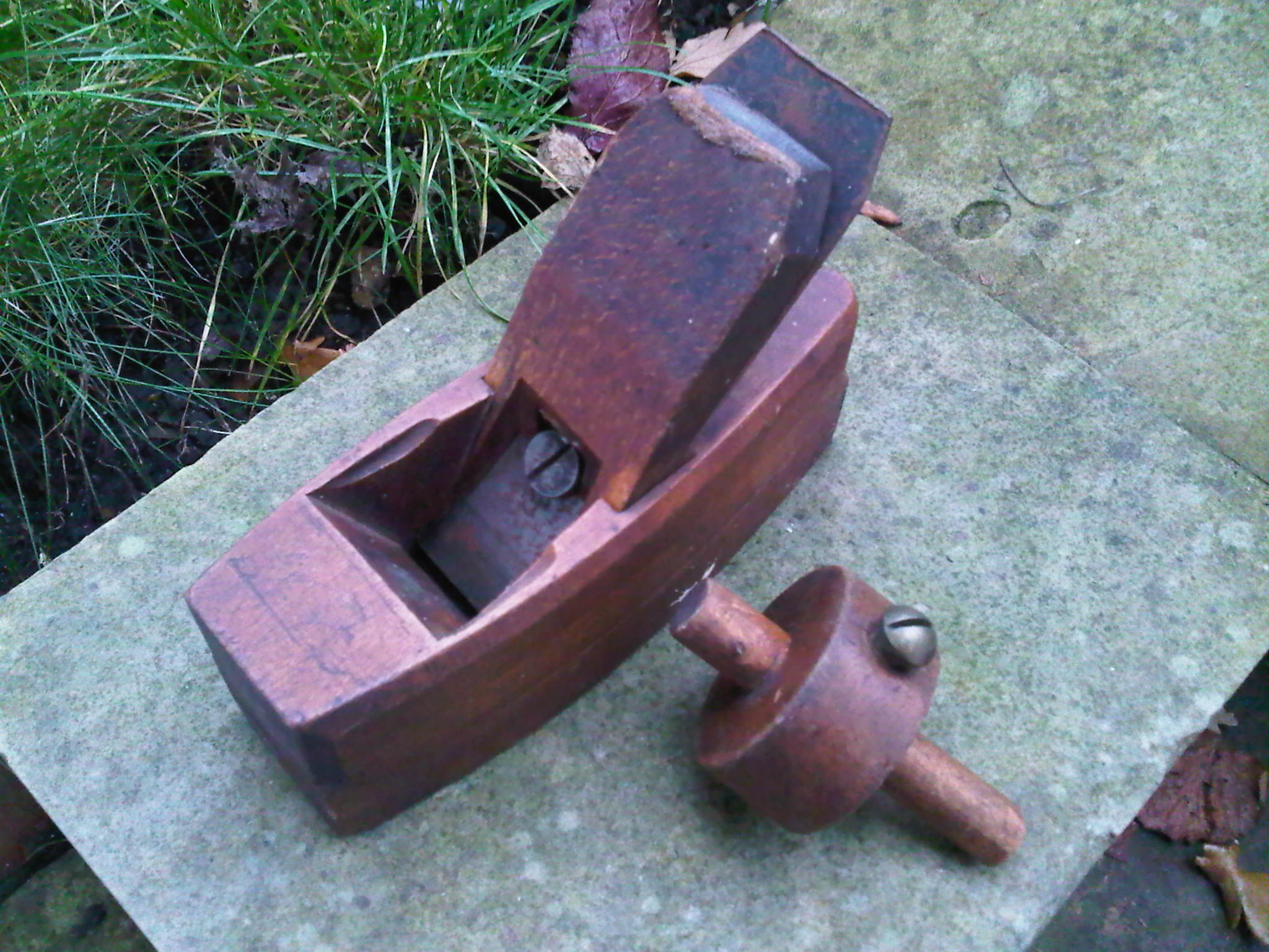 Wooden block plane and scribe / marking tool
